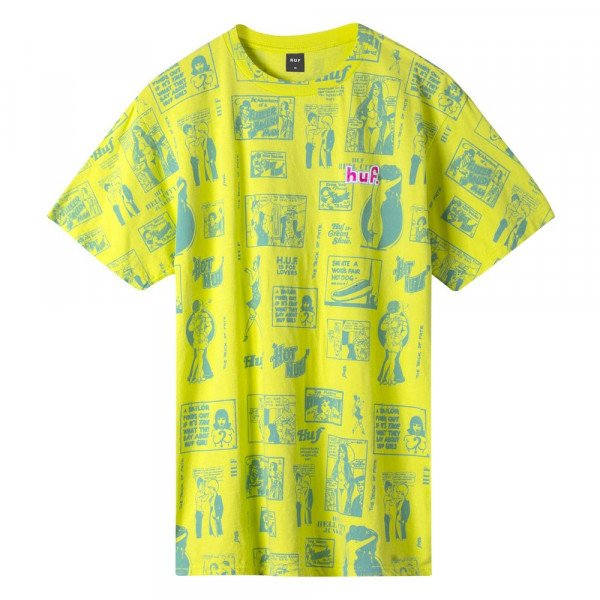 HUF T-SHIRT TIJUANA MEMORIES HOT LIME