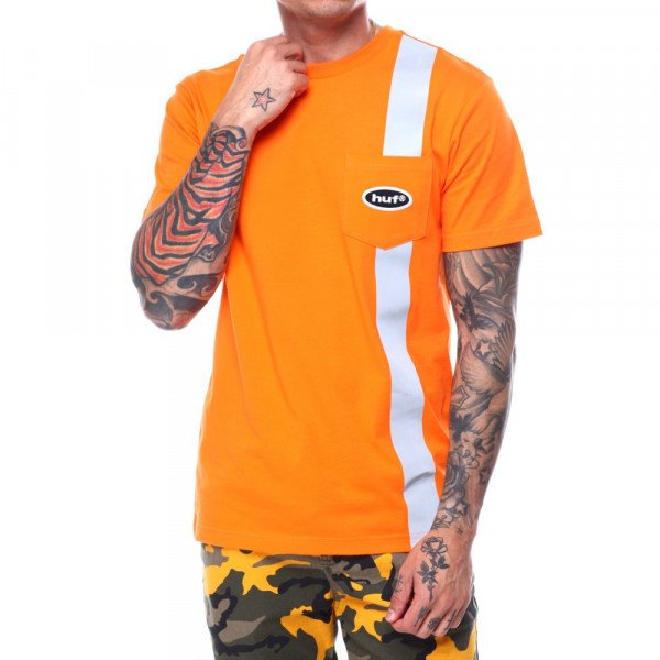 HUF T-SHIRT SAFETY ORANGE