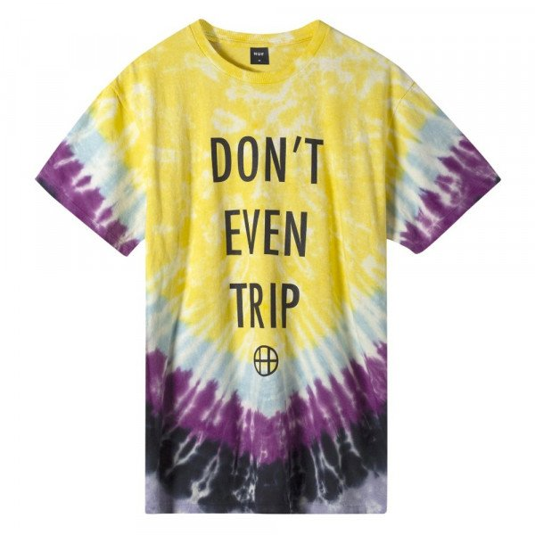 HUF T-SHIRT DONT EVEN TRIP YELLOW