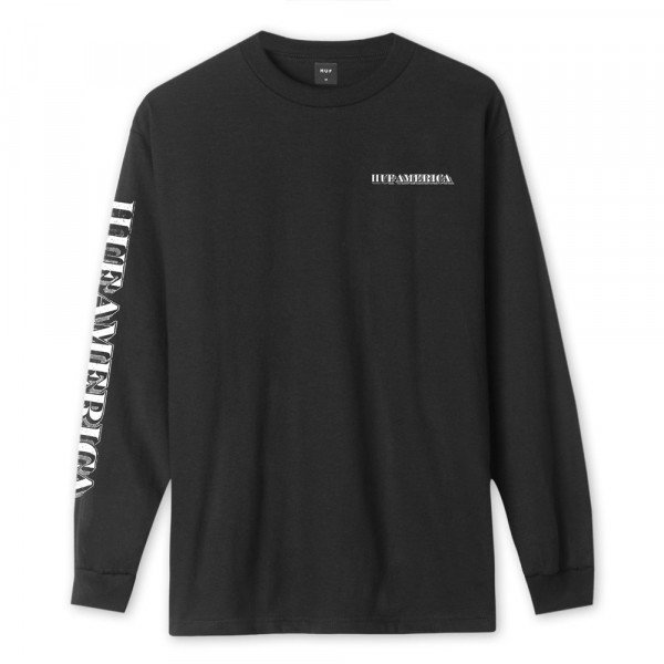 HUF LONGSLEEVE DEATH & TAXES BLACK