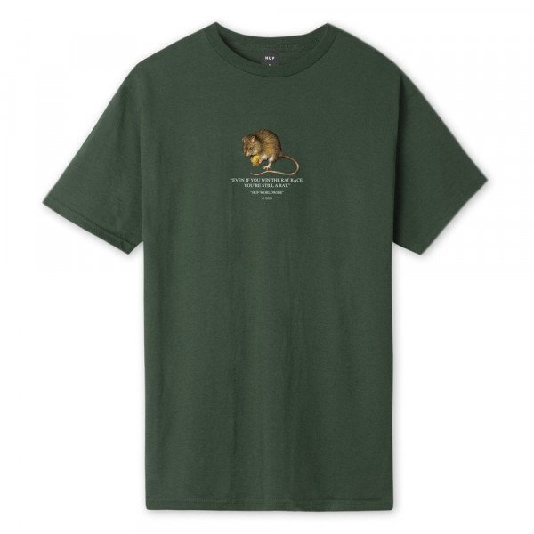 HUF T-SHIRT RAT RACE SYCAMORE