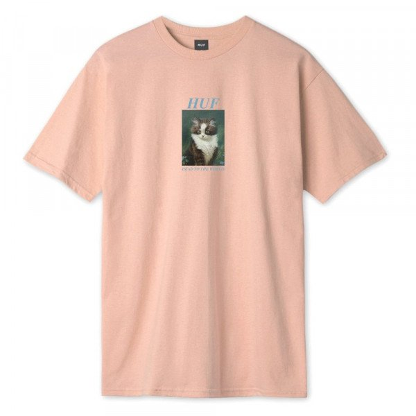 HUF T-SHIRT LOST CORAL PINK