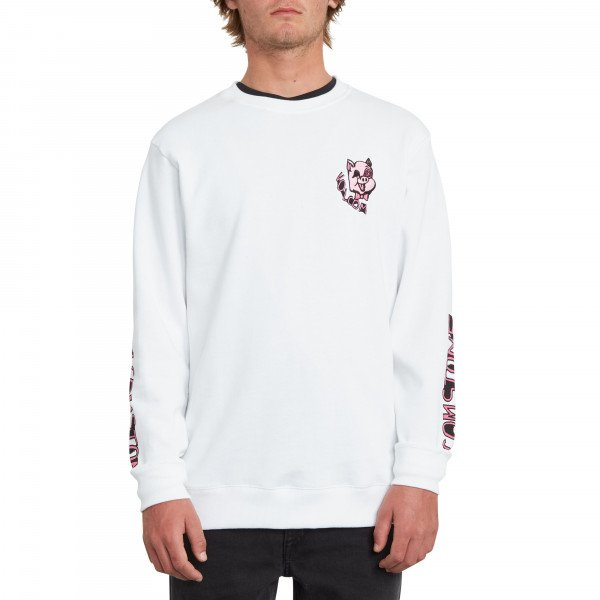 VOLCOM HOOD SUPPLY STONE CREW WHT