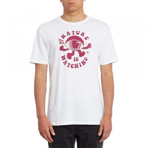 VOLCOM T-SHIRT WATCHER BSC SS WHT