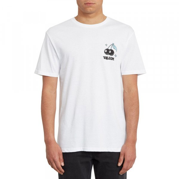 VOLCOM T-SHIRT NATURE KNOWS BSC SS WHT