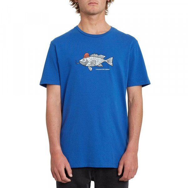 VOLCOM T-SHIRT TROUT THERE LTW SS DEP