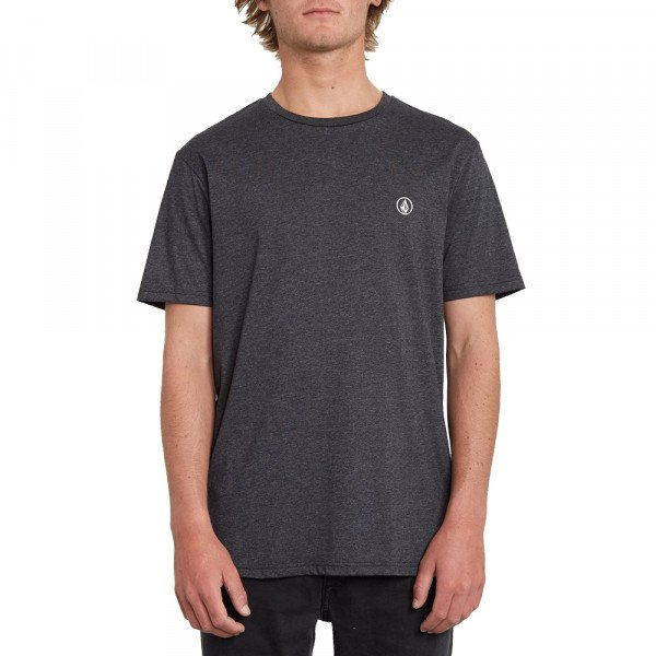 VOLCOM T-SHIRT CIRCLE BLANKS HTH SS HBK