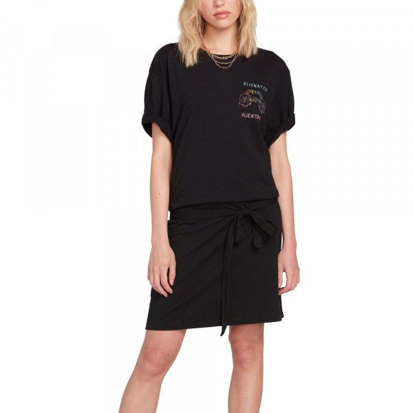 VOLCOM DRESS OZZY ALIEN BLK