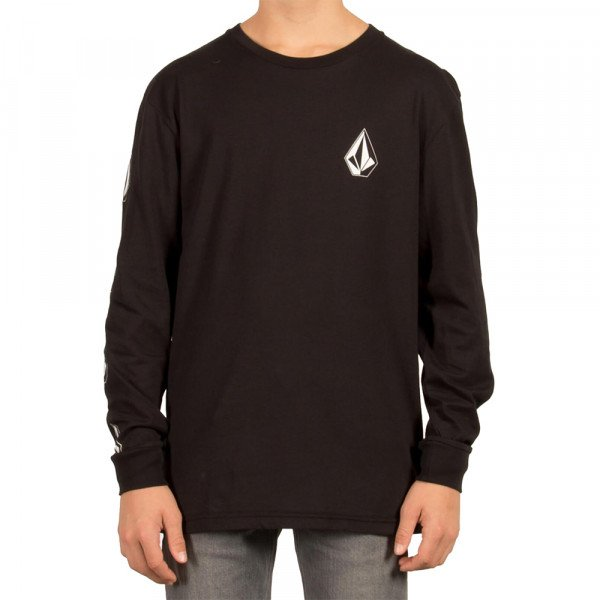 VOLCOM LONGLSEEVE DEADLY STONE BSC LS KIDS BLK