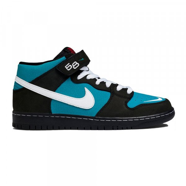 NIKE SHOES SB DUNK MID PRO ISO BLACK WHITE BLACK FRESH WATER