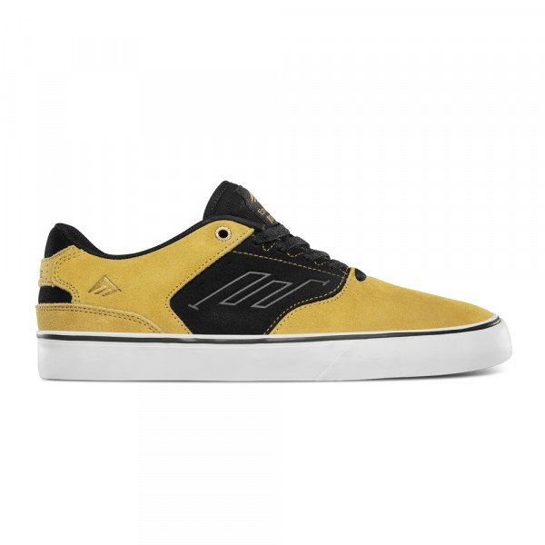 EMERICA SHOES LOW VULC GOLD BLACK