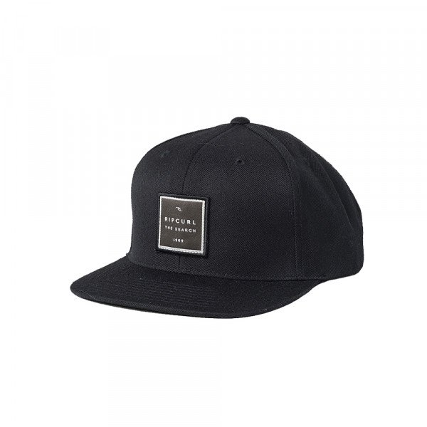RIP CURL CAP VALLEY SQUARE SNAPBACK BLACK
