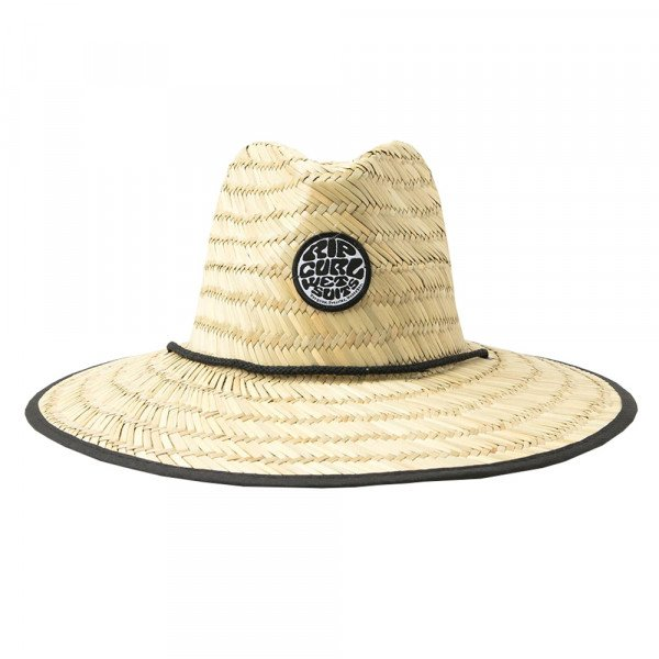 RIP CURL HAT WETTY STRAW BLACK