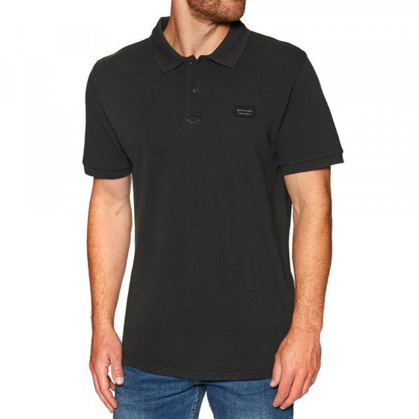 RIP CURL SHIRT FADED POLO BLACK