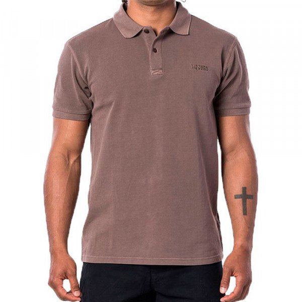 RIP CURL SHIRT FADED POLO MUSHROOM