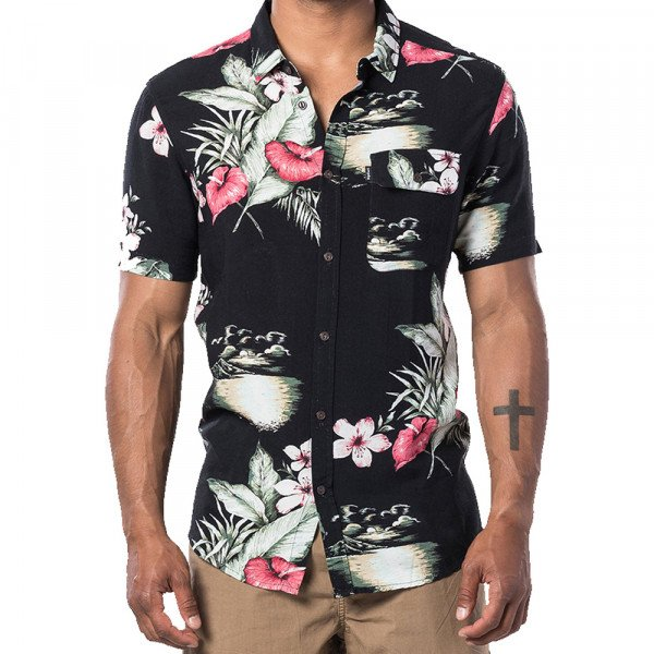 RIP CURL SHIRT OAHU ANTHRACITE
