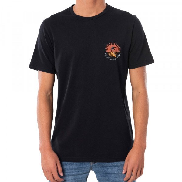 RIP CURL T-SHIRT SWC DISTANT WASHED BLACK