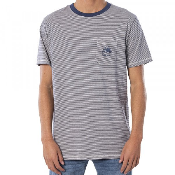 RIP CURL T-SHIRT SWC CHANNEL STRIPE STONE