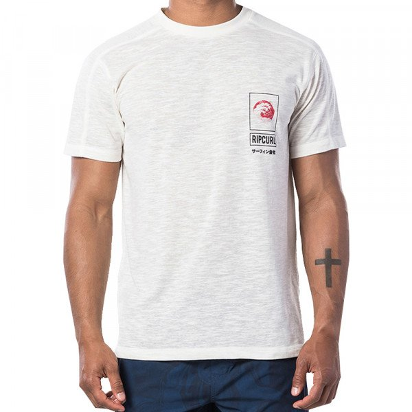 RIP CURL T-SHIRT SUROGAN VPC SS OFF WHITE