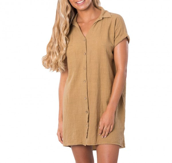 RIP CURL DRESS THE ADRIFT MUSTARD