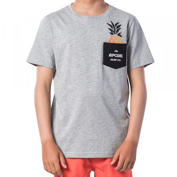 RIP CURL T-SHIRT FASHION POCKET SS CEMENT MARLE