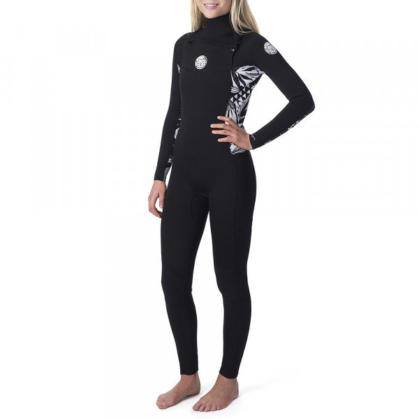 RIP CURL WETSUIT DAWN PATROL 43 GB CHEST ZIP BLACK BLACK