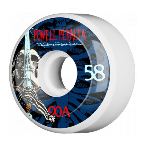 POWELL PERALTA WHEELS SKULL & SWORD 3 58MM 90A WHITE