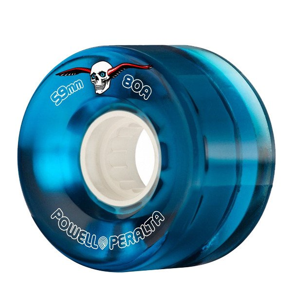 POWELL PERALTA WHEELS CLEAR CRUISERS 59MM 80A BLUE