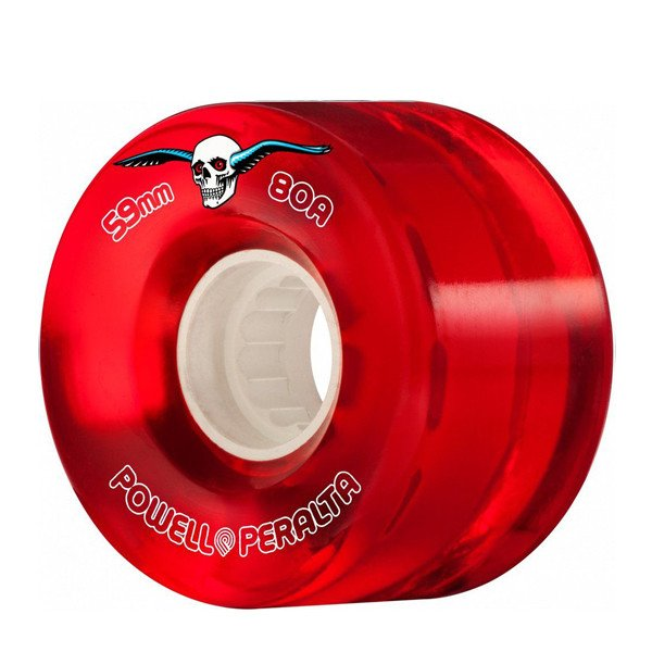 POWELL PERALTA WHEELS CLEAR CRUISERS 59MM 80A RED