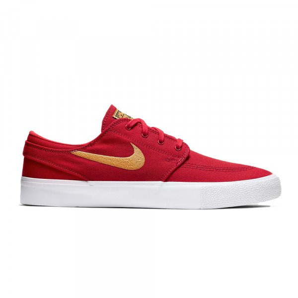 NIKE SHOES SB ZOOM JANOSKI CNVS RM UNIVERSITY RED CLUB GOLD