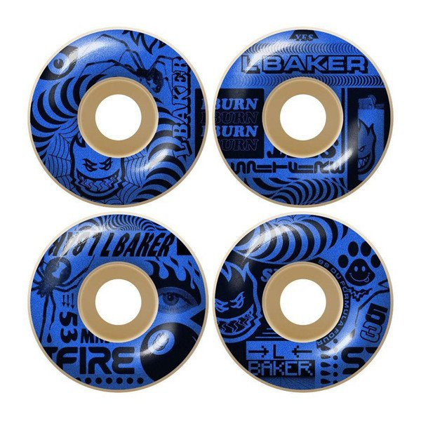 SPITFIRE WHEELS F4 99 L BAKER CLASSIC NATURAL 53 MM