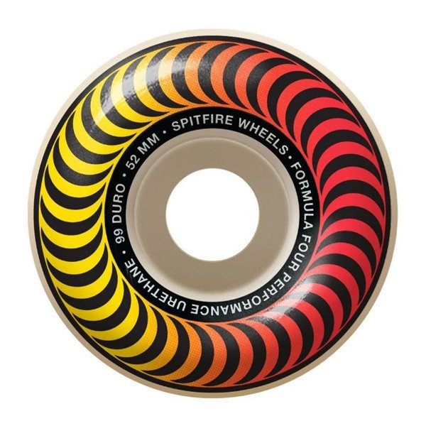 SPITFIRE WHEELS F4 99 CLASSIC FADER ORANGE PRINT 52 MM
