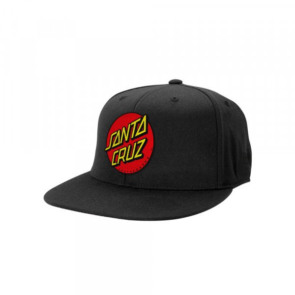SANTA CRUZ CEPURE CLASSIC DOT FITTED HAT BLACK