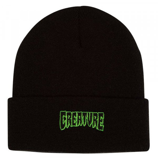 CREATURE CEPURE LOGO OUTLINE BEANIE BLACK