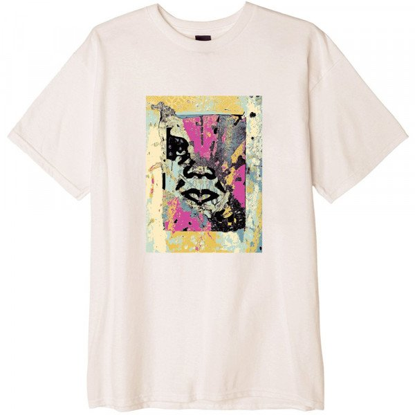 OBEY T-SHIRT ENHANCED DISINTEGRATION NAT