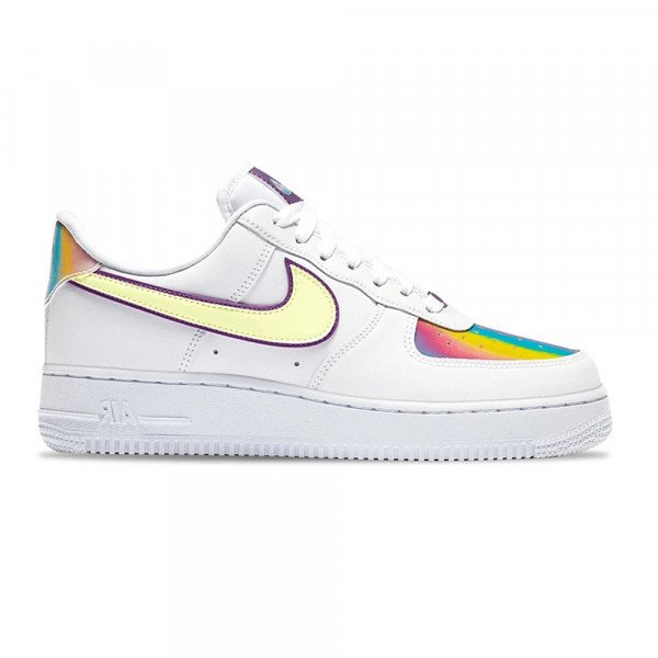 NIKE APAVI AIR FORCE 1 EAS W WHITE BARELY VOLT HYPER BLUE