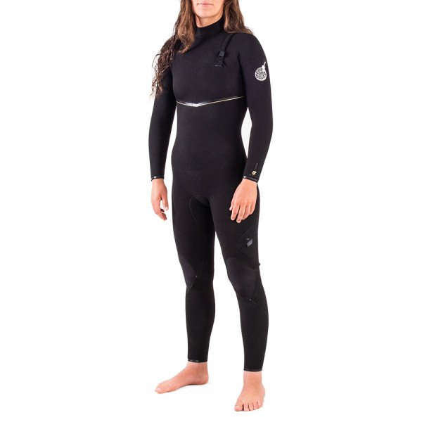 RIP CURL WETSUIT E BOMB LTD 43GB WMN ZIP FREE BLACK