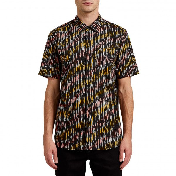 VOLCOM SHIRT HIGH BALL SS BLK