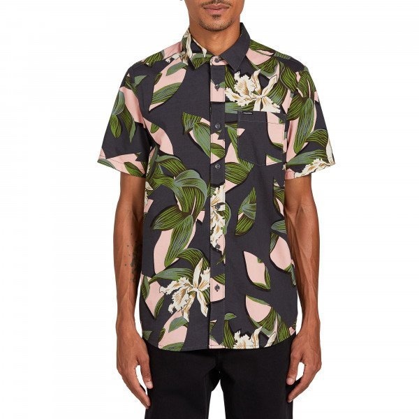 VOLCOM SHIRT CUT OUT FLORAL SS DCR