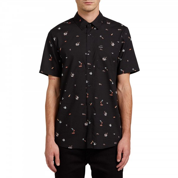 VOLCOM SHIRT PARTY PIECES SS BLK