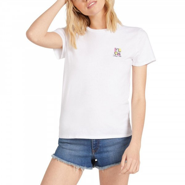 VOLCOM T-SHIRT STOKED ON STONE WHT SU