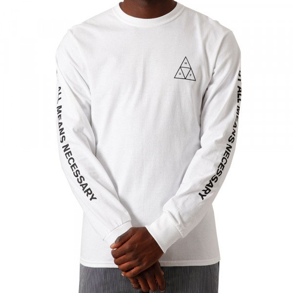 HUF LONGSLEEVE ESSENTIALS TT WHITE