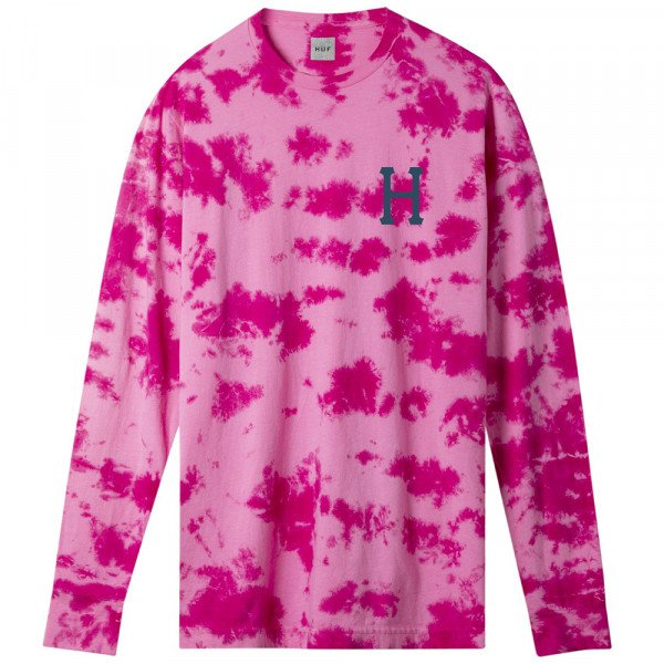 HUF LONGSLEEVE CLASSIC H WATERCOLOR PINK