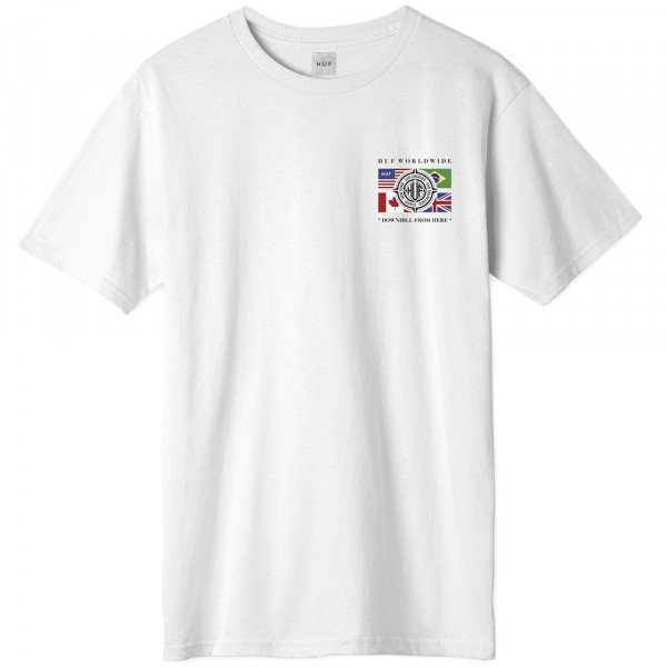 HUF T-SHIRT GLOBAL WAVE WHITE