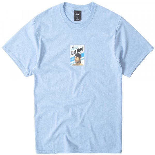 HUF T-SHIRT DU RAG LIGHT BLUE