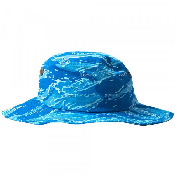HUF HAT FUCK IT TIGER CAMO BOONIE OLYMPIAN BLUE