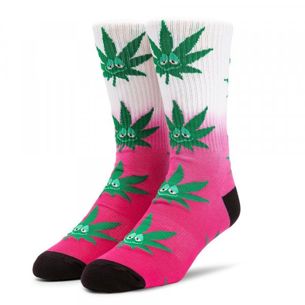 HUF ZEĶES GREEN BUDDY TIEDYE PI HOT PINK