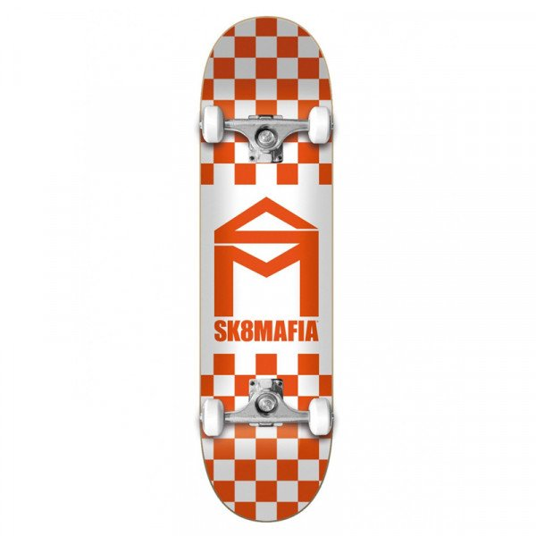 SK8MAFIA COMPLETE HOUSE LOGO CHECKER ORANGE 8