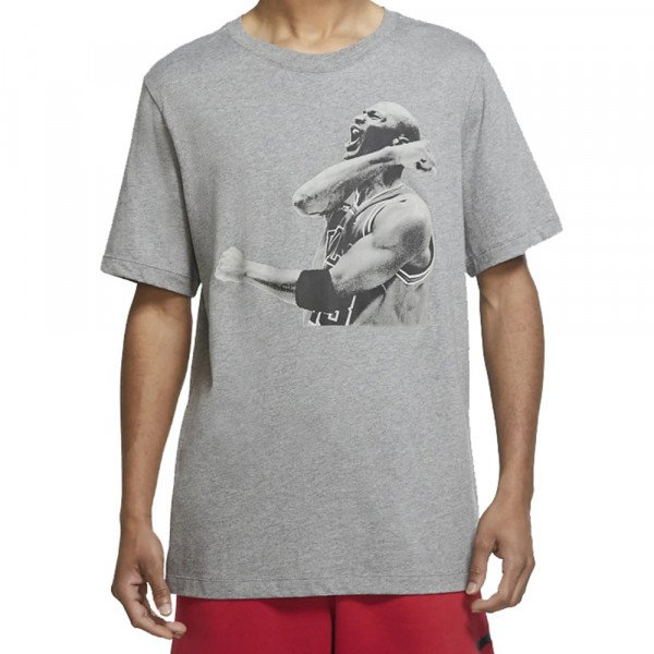 NIKE T-SHIRT JORDAN MJ PHOTO SS CREW GREY