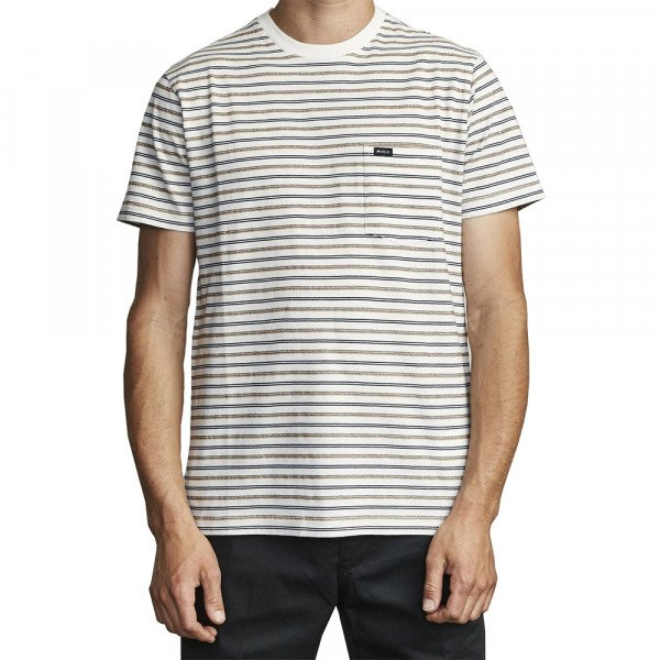 RVCA T-SHIRT RUNAWAY SS ANTIQUE WHITE